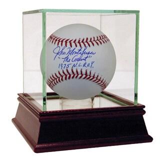 """John Montefusco Signed MLB Baseball w/ """"The Count, 1975 NL ROY"""" Insc"""