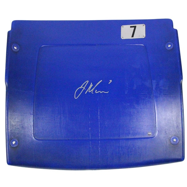 Joe Mauer Signed Minnesota Twins Seatback from Metrodome
