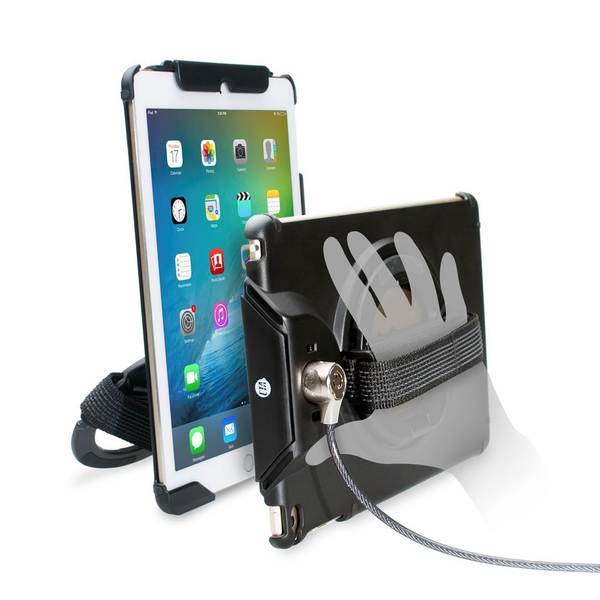 CTA Digital PADACGA Anti-Theft Case with Built-In Grip Stand for iPad, iPad Air and iPad Air 2