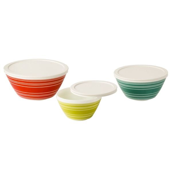 Pyrex Vintage Charm Memory Lane 6-piece Mixing Bowl Set