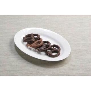 Pure Vanilla 8-inch Oval Plates (Set of 4)