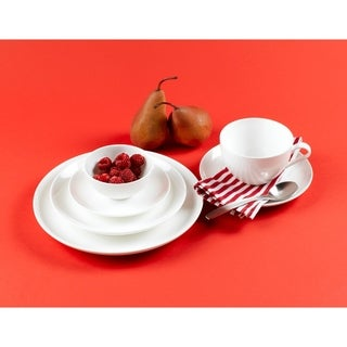 Pure Vanilla Coupe 6-inch Side Plates (Set of 6)