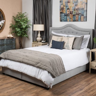 Christopher Knight Home Dante Upholstered Tufted Fabric California King Bed Set with Drawers