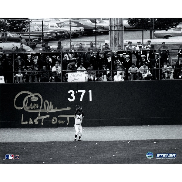 "Cleon Jones Signed Last Out 8x10 Photo w/ ""Last Out"" Insc."