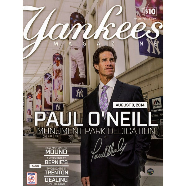 Paul O'Neill Signed 8/9/2014 Yankees Magazine