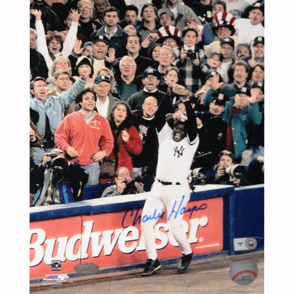 Charlie Hayes Signed 1996 WS Final Out Signed 8x10 Photo