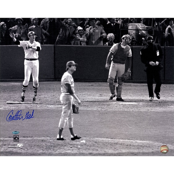 "Carlton Fisk Signed ""1975 WS Wave"" 16x20 Photo"