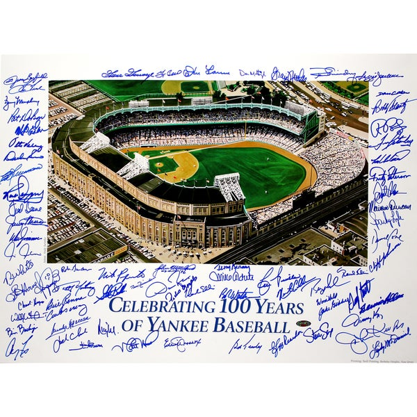 New York Yankees 100 Years of Yankees Baseball 20x24 Photo (72 Sigs)