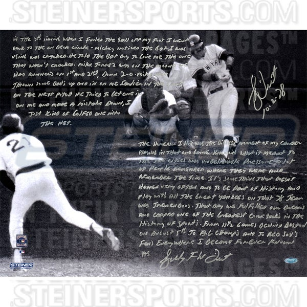 Bucky Dent Signed 1978 American League East tie-breaker game 16x20 Story Photo
