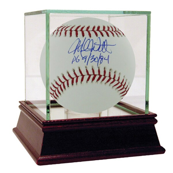 Mike Witt Autographed MLB baseball w/ PG 9/30/84 Insc