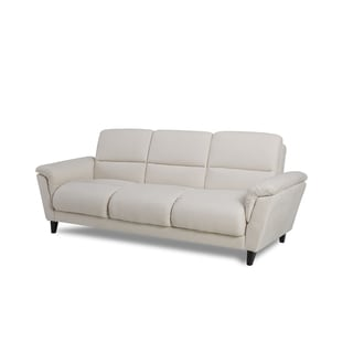 diamond white bonded leather sleeper sofa 13504097