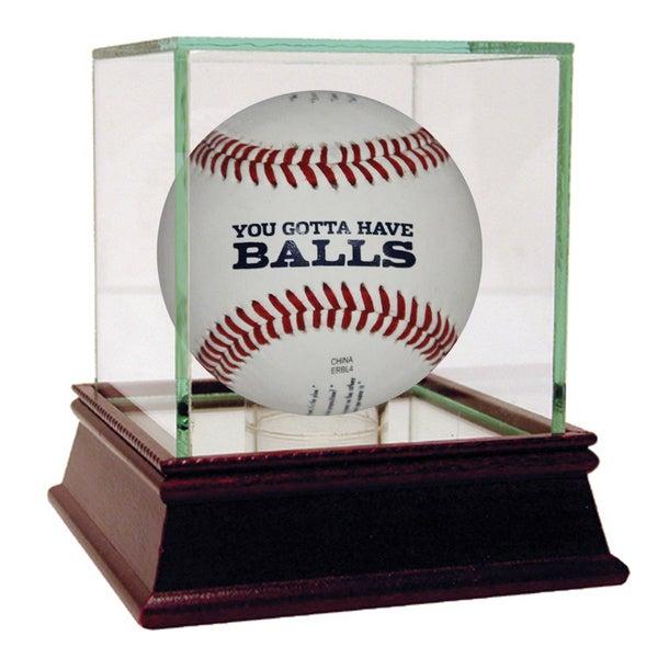 "Brandon Steiner ""You Gotta Have Balls"" Baseball Uns w/ engravings"