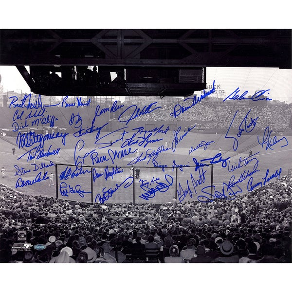 "Boston Red Sox Multi Signed B&W ""Fenway Park- Horizontal"" 16x20 Photo Kell/Rice/Lonborg/George Scott/Tiant/Torrez/""Oil Can"" Boyd"