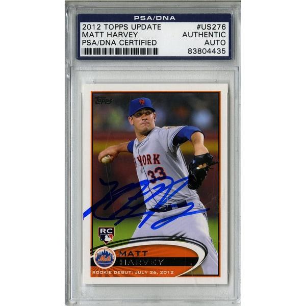 Matt Harvey Signed Topps Trading Card 7/26/12 (PSA/DNA) 17308600