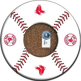 Boston Red Sox Baseball with Logo Coasters (Set of 4)