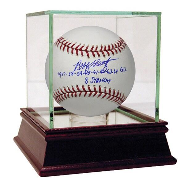 Bobby Shantz Signed MLB Baseball w/ 1957-58-59-60-61-62-63-64 G.G. 8 Straight Insc