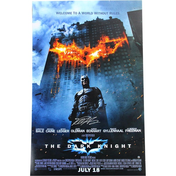 "Matt Harvey Signed ""The Dark Knight"" 20x32 Movie Poster (MLB Auth)"