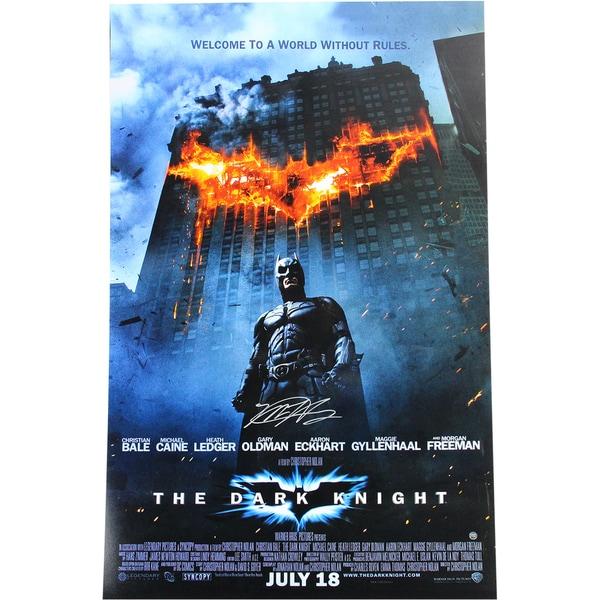 """Matt Harvey Signed """"The Dark Knight"""" 20x32 Movie Poster (MLB Auth)"""