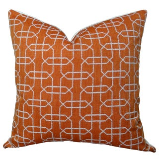 Plutus Ardmore Persimmon Handmade Double-sided Throw Pillow