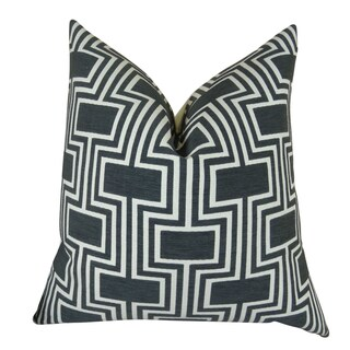 Plutus Conduit Espresso Handmade Double-sided Throw Pillow