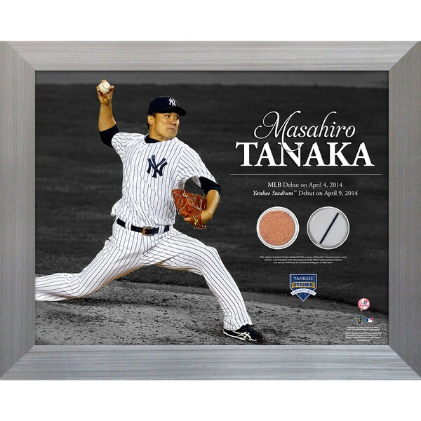 Masahiro Tanaka Pitching 11x14 Framed Photo Uniform & Dirt Collage 17308894