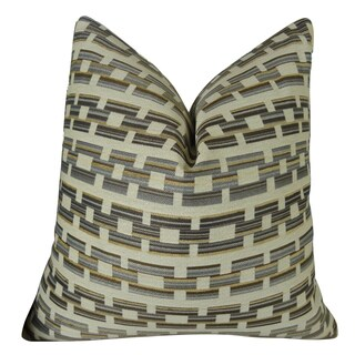 Plutus Square Link Handmade Double-sided Throw Pillow