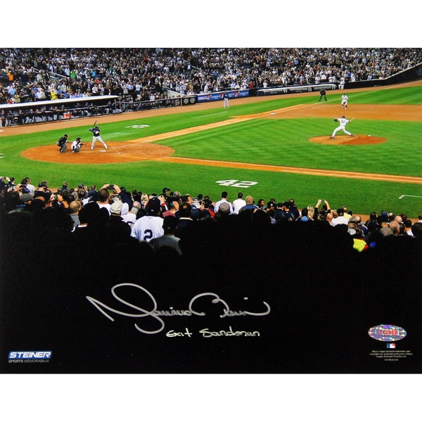 Mariano Rivera 2013 Career Final Pitch At Yankee Stadium Signed 8x10 Photo w/Exit Sandman Insc