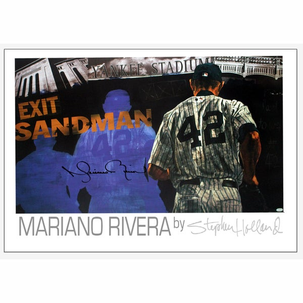 Mariano Rivera Signed Sandman Poster (By Stephan Holland)
