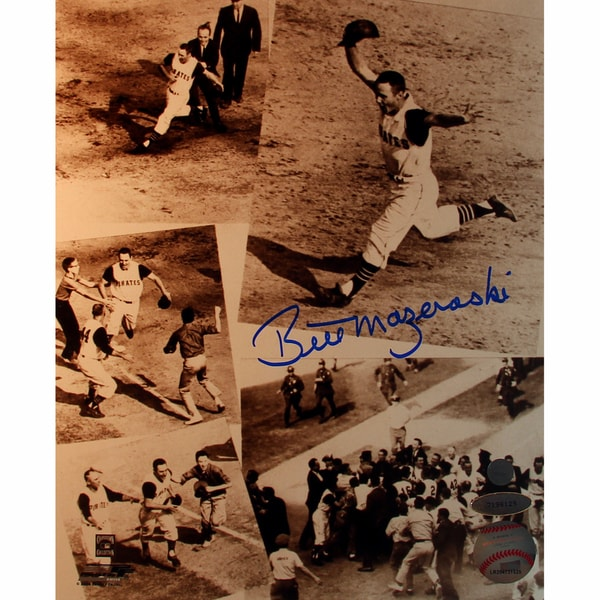 Bill Mazeroski Signed Collage Vertical 8x10 Photo (Tri Star Holo Only)