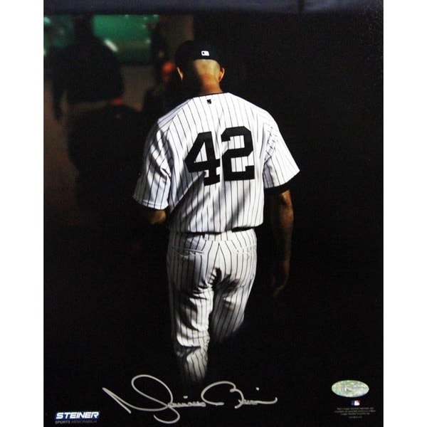 Mariano Rivera Final Exit At Yankee Stadium Signed 8x10 Photo