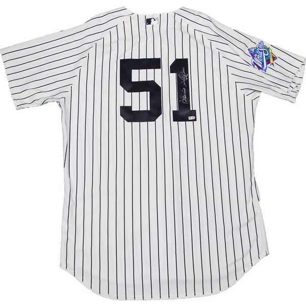 Bernie Williams Signed New York Yankees Authentic Pinstripe Jersey w/ 1999 Patch (MLB Auth) 17309150