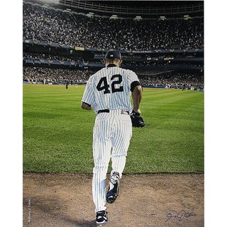Mariano Rivera 2006 Entering The Game Color 16x20 Photo uns (Signed By Anthony Causi)