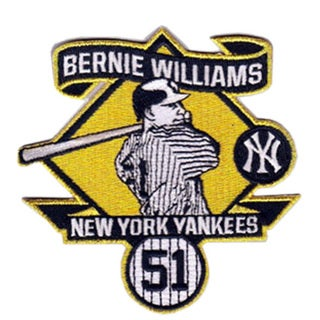 Bernie Williams Retirment Logo Patch
