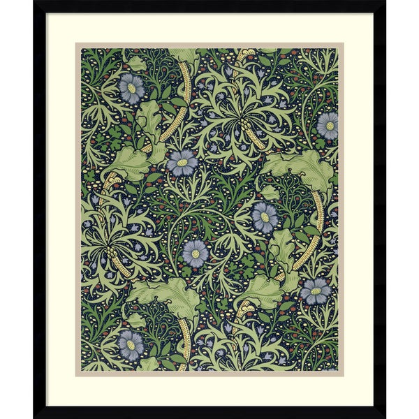 William Morris 'Seaweed Wallpaper Design, printed by John Henry Dearle, 1901' Framed Art Print 19 x 22-inch
