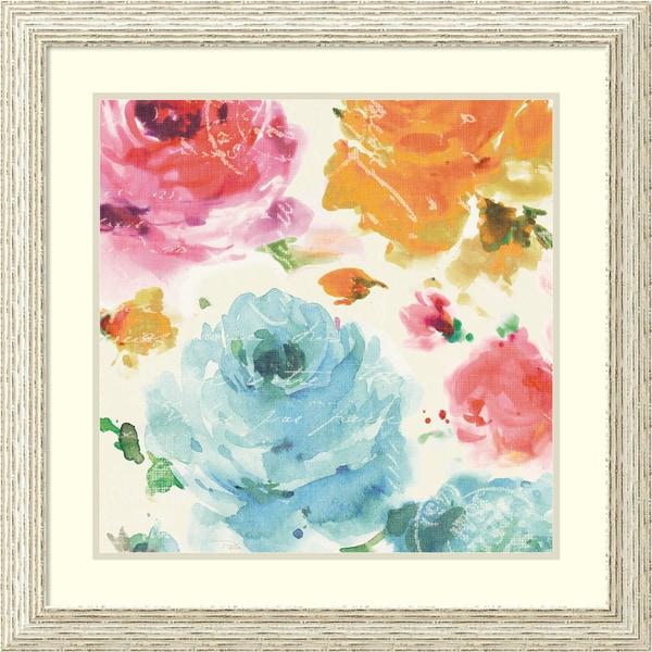Pela 'Rose Sorbet II' Framed Art Print 27 x 27-inch