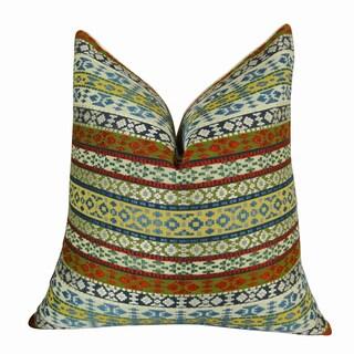 Plutus Fun Stripes Handmade Double-sided Throw Pillow