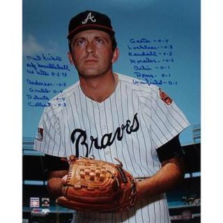 Phil Niekro Atlanta Braves Pinstripe Jersey Vertical 16x20 Photo w/ Multi Insc.
