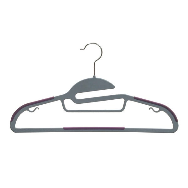 Multi-function Grey Plastic Suit Hanger (Pack of 50)