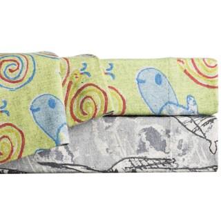 La Rochelle Animal Print Heathered Flannel Sheet Set