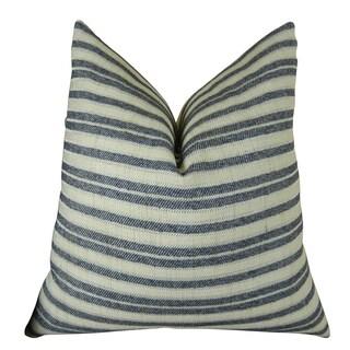 Plutus Stone Manor Indigo Handmade Double-sided Throw Pillow