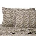 La Rochelle Heathered Flannel Paisley Cotton Sheet