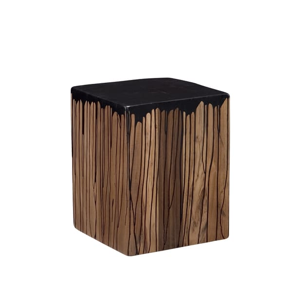 Aurelle Home Leila Stool Black