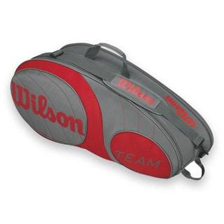 Wilson Team 6 Pack Tennis Bag - Gunmetal/Red