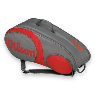 Wilson Team 9 Pack Tennis Bag - Gunmetal/Red