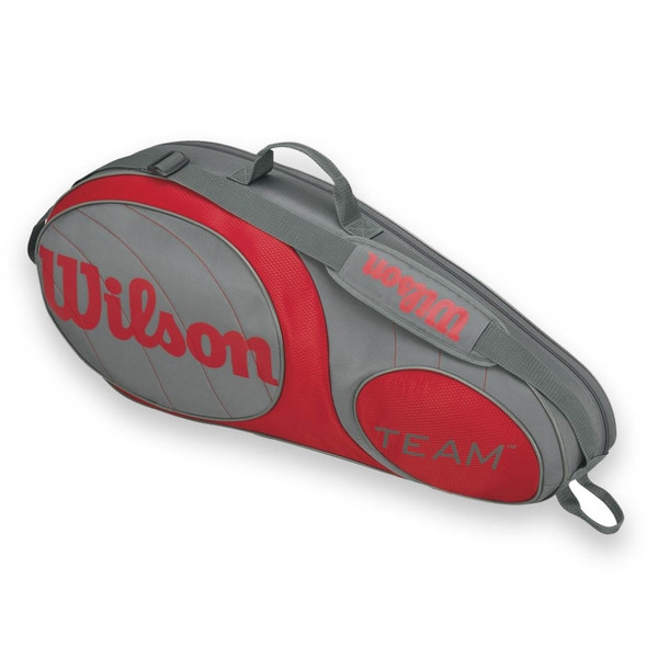 Wilson Team 3 Pack Tennis Bag - Gunmetal/Red