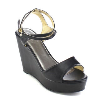 Beston AB34 Women's Ankle Strap Wedges