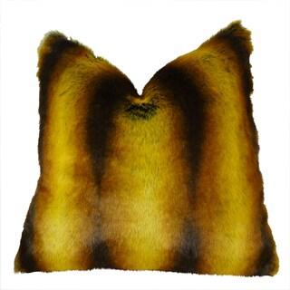 Plutus Orange Chinchilla Handmade Double Sided Throw Pillow