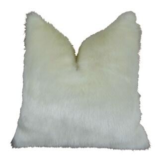 Plutus Arctic Fox Handmade Double Sided Throw Pillow