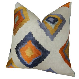Plutus Native Trail Cayenne Handmade Double Sided Throw Pillow