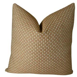 Plutus Alice White Paprika Handmade Double Sided Throw Pillow